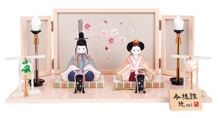 雛人形 今様雛 縫nui /木目込み親王飾り 正絹上E (お顔 ゆめ)