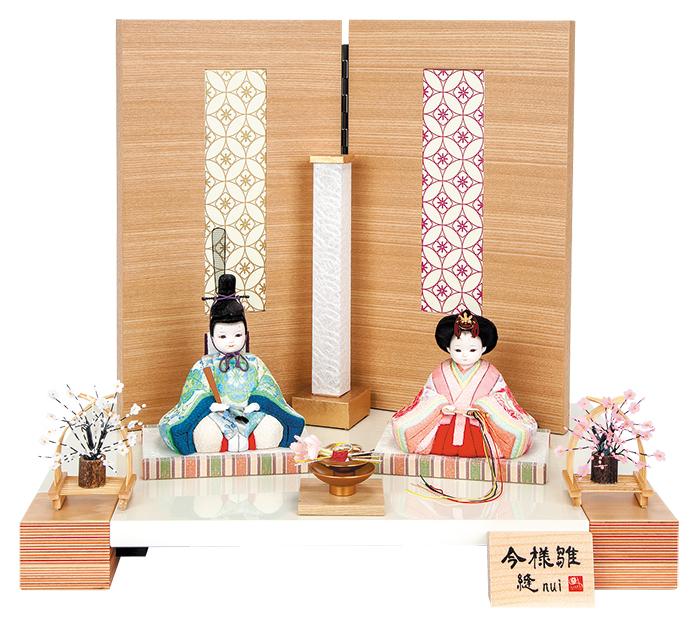 雛人形 今様雛 縫nui /木目込み親王飾り 雅L(お顔 ゆめ)