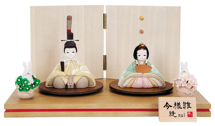 雛人形 今様雛 縫nui /木目込み親王飾り 草木染衣装P (お顔 ゆめ)