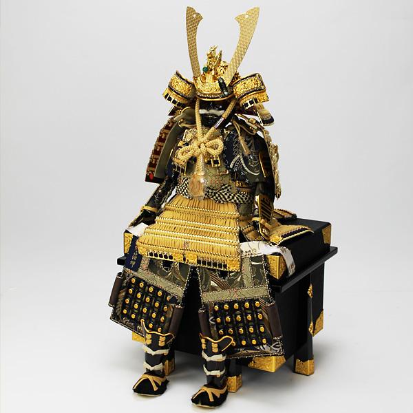 平安道齋作 8号純金箔押総裏白檀之鎧飾り/緋糸威
