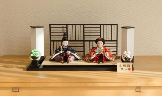 雛人形 今様雛 縫nui /衣裳着親王飾り(お顔 さや)