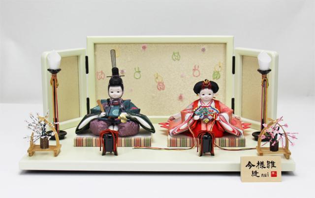 雛人形 今様雛 縫nui /衣裳着親王飾りA(お顔 ふく)