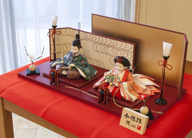 雛人形 今様雛 縫nui /衣裳着親王飾り(お顔 ふく)