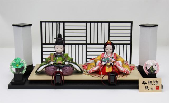 雛人形 今様雛 縫nui /衣裳着親王飾り(お顔 ゆめ)