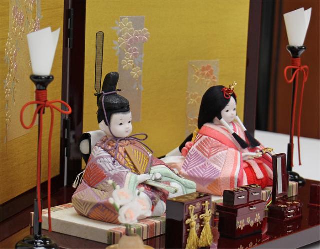 雛人形 今様雛 縫nui /木目込み親王飾りE菱柄(お顔 ゆめ)