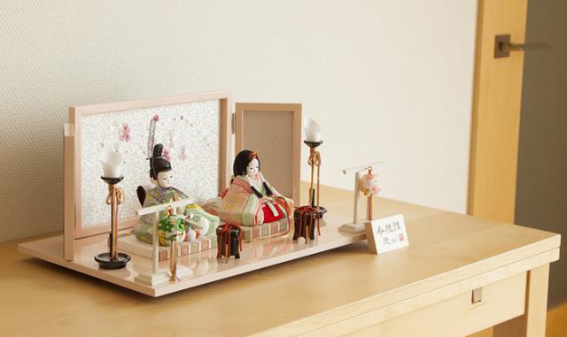 雛人形 今様雛 縫nui /木目込み親王飾り正絹B(お顔 ゆめ))※12月中旬よりのご配送となります。