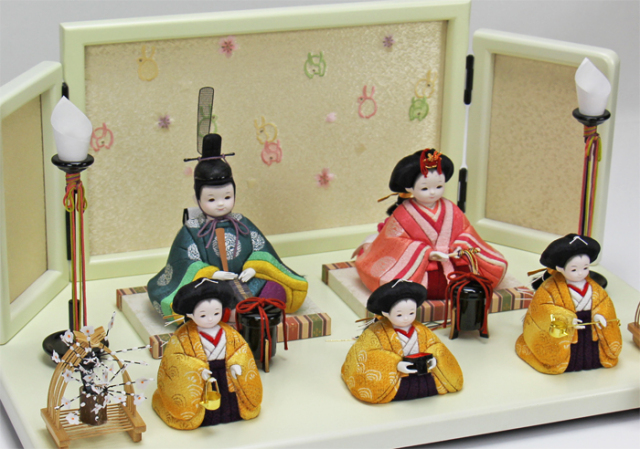 雛人形 今様雛 縫nui /木目込み5人飾り 正絹(お顔 ゆめ))※12月中旬よりのご配送となります。