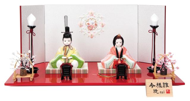 雛人形 今様雛 縫nui /木目込み親王飾り雅K (お顔 ゆめ)