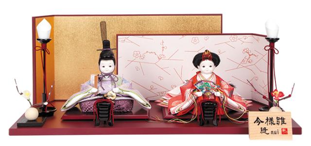 雛人形 今様雛 縫nui /衣裳着親王飾り正絹B(お顔 ふく)