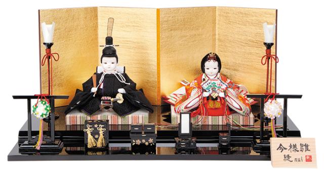 雛人形 今様雛 縫nui /衣裳着親王飾り 正絹上束帯G(お顔 れい)