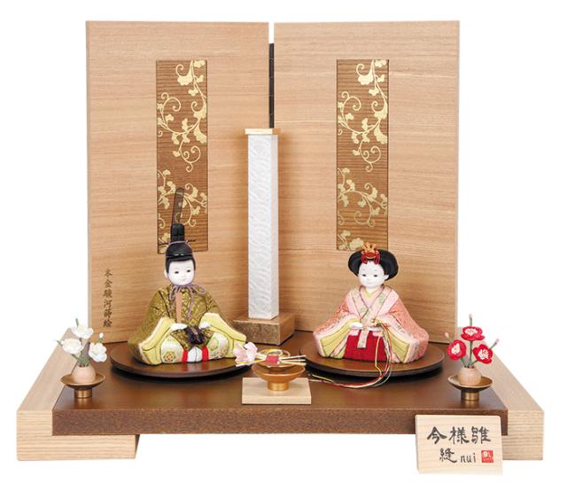 雛人形 今様雛 縫nui /木目込み親王飾り 正絹上D(お顔 ゆめ)