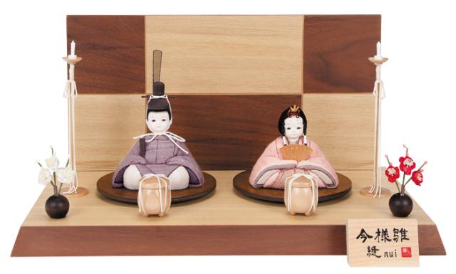 雛人形 今様雛 縫nui /木目込み親王飾り 草木染衣装Q (お顔 ゆめ)