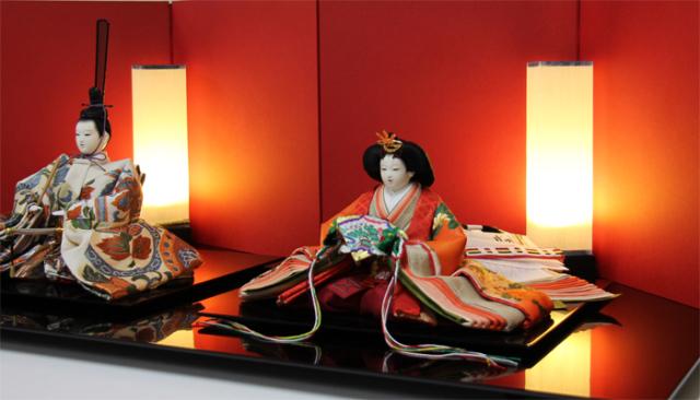 清水久遊作 雛人形十番親王飾りセット/正絹帯地#3232 【送料無料】【間口100cmタイプ】