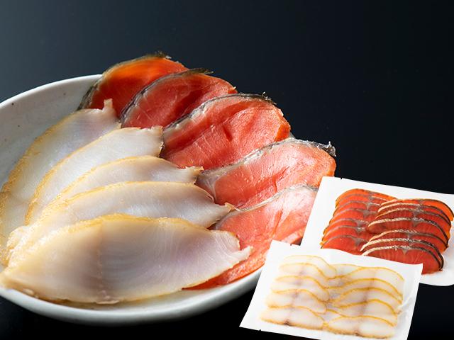 紅鮭温燻100g 銀だら燻製100g