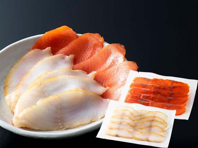 紅鮭 スモーク サーモン 銀だら 各100g