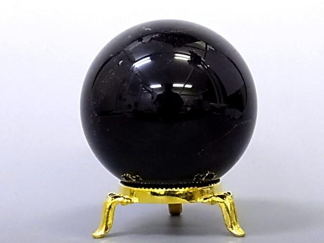 モリオン【黒水晶】丸玉