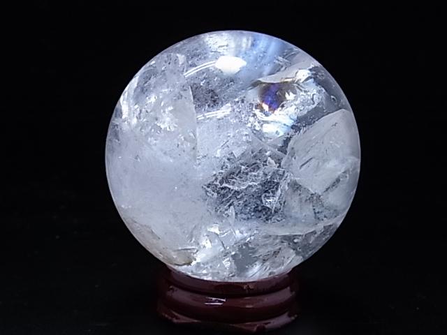 レインボー水晶【丸玉】