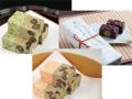 桜の時期限定 さくらの風味が上品です 桜川 蓬の風味の通小町 からめきの瀬栗入り 各一本 化粧箱入り