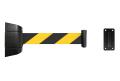ウォールジョイントパーテーション 壁面設置タイプ BR-2BY バリアリール 2m 黒・黄ストライプ ベルトパーテーション 壁掛け式 テープパーテーション 立ち入り禁止 立入禁止 壁付ユニット 受け金具付 自動巻き ベルト外れ防止機構付【6ヶ月保証】
