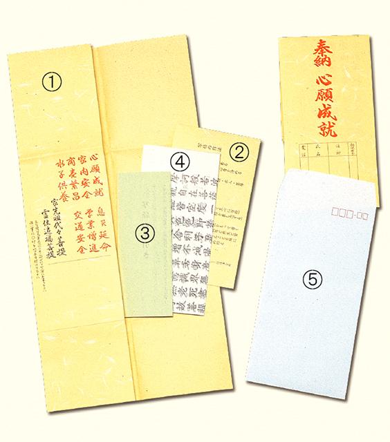 般若心経写経用紙セット(1組)