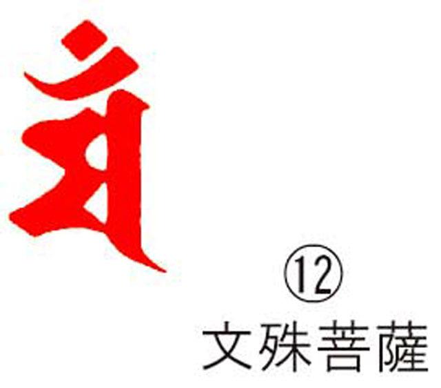 耐油ゴム梵字印(12)K文殊菩薩