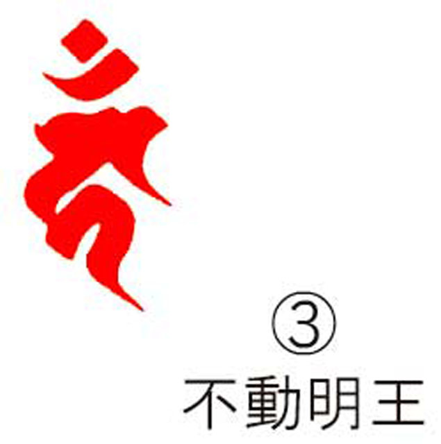 耐油ゴム梵字印 (3)不動明王(丸枠付・火防なし・65mmのみ)1個限定