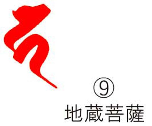 耐油ゴム梵字印 (9)地蔵菩薩 (火防B入り・55mmのみ)1個限定