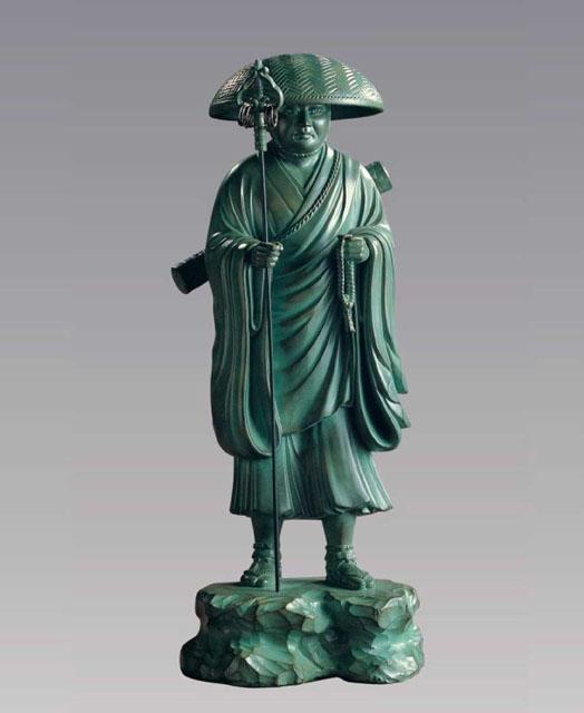 弘法大師像(青銅色)