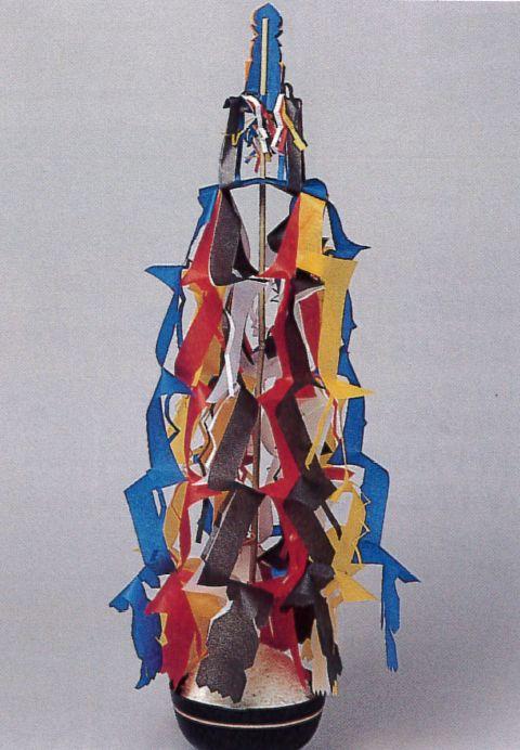 寺院用真幡(五色)竹棒付