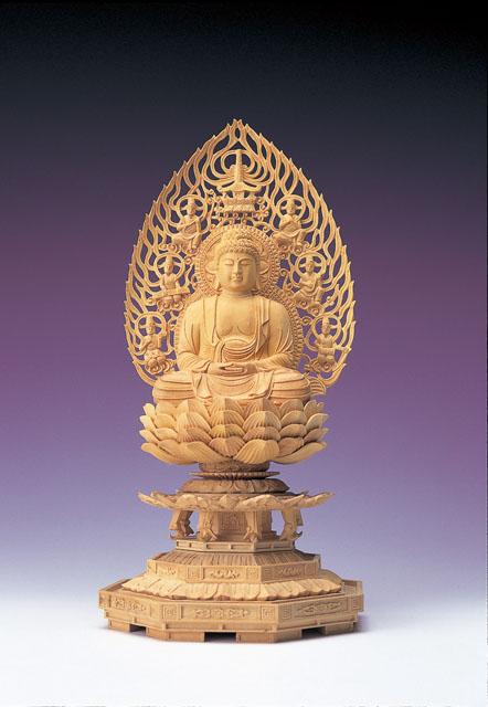 木製仏像 釈迦如来(本つげ製)