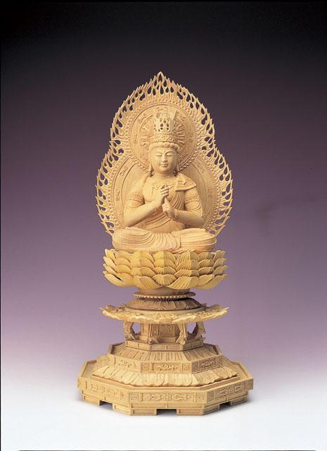 木製仏像 大日如来(本つげ製)