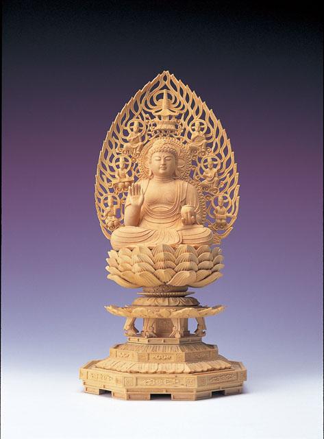 木製仏像 薬師如来(本つげ製)
