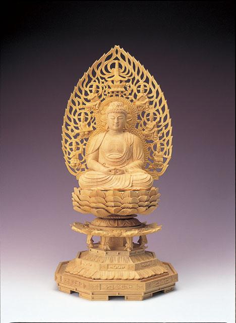 木製仏像 阿弥陀如来(本つげ製)