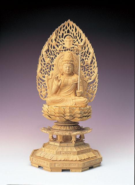 木製仏像 虚空蔵菩薩(本つげ製)