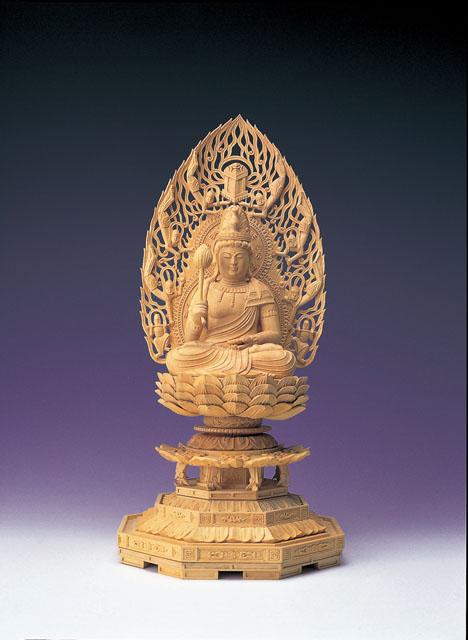 木製仏像 勢至菩薩(本つげ製)