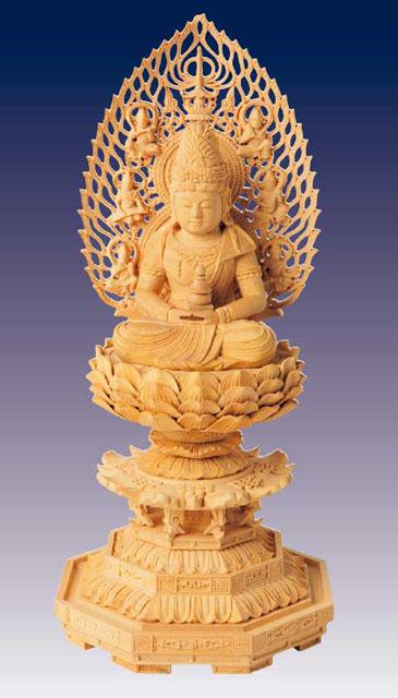 木製仏像 弥勒菩薩(本つげ製)