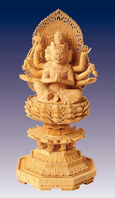 木製仏像 馬頭観音菩薩(本つげ製)