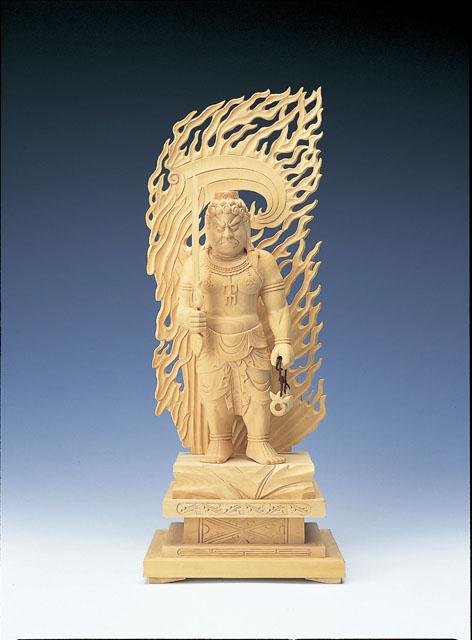 木製仏像 不動明王立像(本つげ製)
