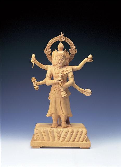 木製仏像 三宝荒神(本つげ製)