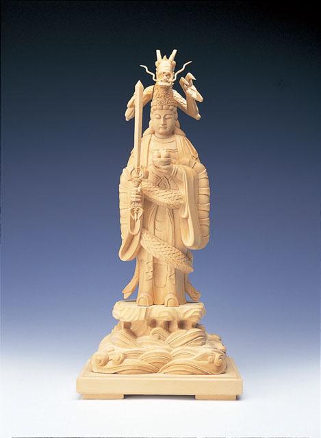 木製仏像 龍神(本つげ製)