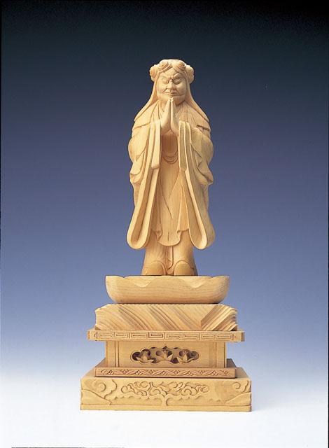 木製仏像 鬼子母神(本つげ製)