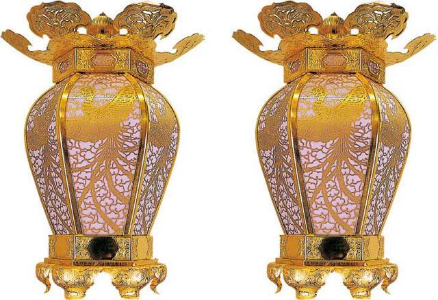 金物隠元吊灯籠(一対)