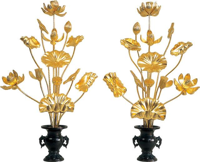 木製常花(一対)総金箔