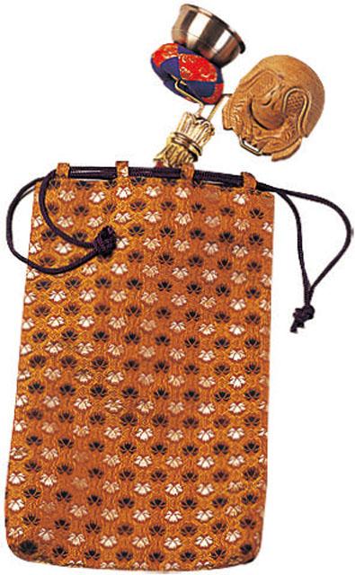 墓参用印金木魚セット専用金襴袋