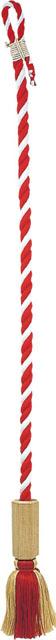 本坪紐(桐製六角枠付)◯紅白木綿