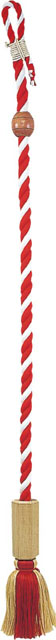 鰐口紐(桐製六角枠付・撞木付)◯紅白木綿