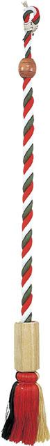 鰐口紐(桐製六角枠付・撞木付)◯麻製三色