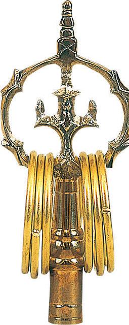 錫杖(黒檀柄付)並製品
