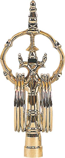 錫杖(黒檀柄付) 別上品・真鍮本焼