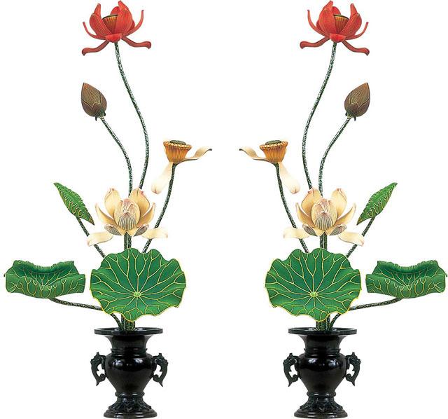 浄蓮型常花(一対)7本立て